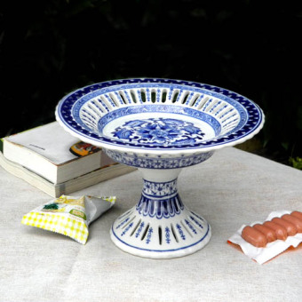 Shishang ceramic porcelain sugar blue and white porcelain fruit plate
