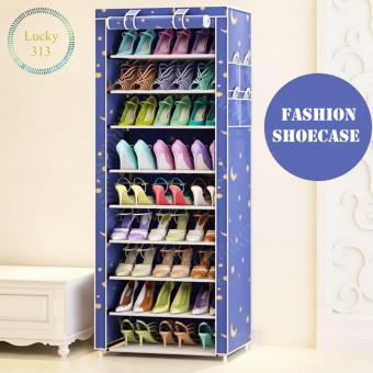 Shoe Cabinet Shoe Rack Organizer 10 Layers Shoe Cabinet (Blue)