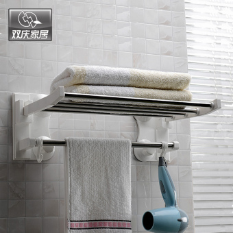 Shuangqing bathroom hanging towel rack suction cup towel rack