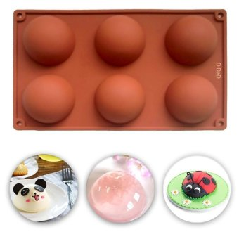 Silicone Baking Mould Hemisphere,6-Cavity Half Circle DIY CakeBaking Mould Silicone Mold for Making Delicate ChocolateDesserts,Ice Cream Bombes,Cakes,Soap etc - intl