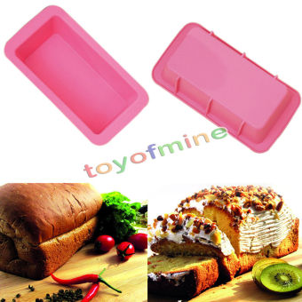 Silicone Bread Loaf Cake Mold Non Stick Bakeware Baking Pan OvenRectangle Mould - Intl Price Philippines