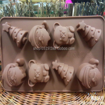 Silicone cake Christmas chocolate-High Low Temperature handmade DIY Mold
