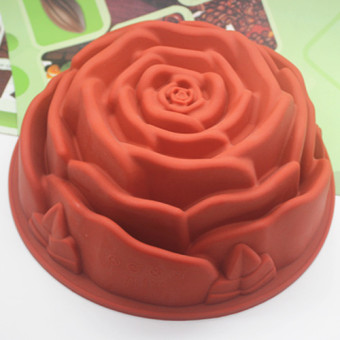 Silicone chocolate rose cake mold