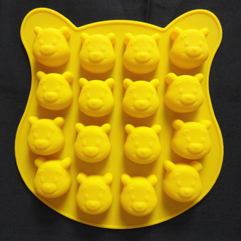 Silicone mini small Whinnie the Pooh Bear baking Mold