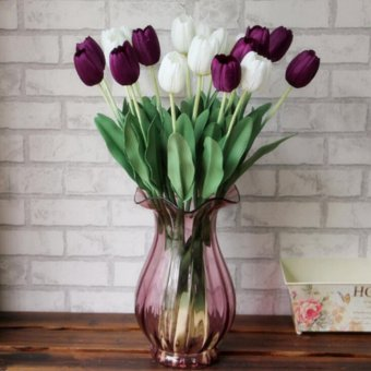 Silk Flower Artificial Tulip Home Decor Pink - intl