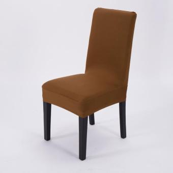 Simple Plain Elastic Dining Chair Cover - 4