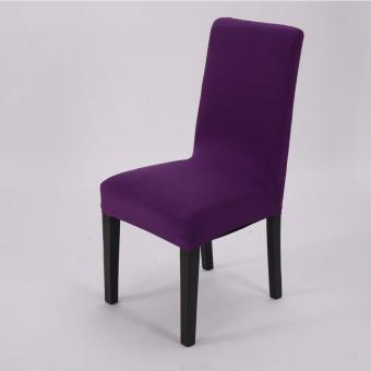 Simple Plain Elastic Dining Chair Cover - 2