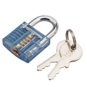 Skill Training Lock + 10-Piece Lockpick Tool Set - Black +Multicolor - intl - 2