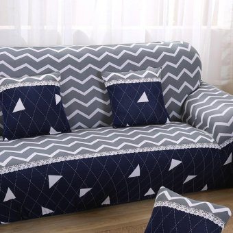 Slipcover 3 Seater Stretch Sofa Couch Cover Loveseat Chair SeatCover Home Decor 190-230 cm #4 - intl - 3