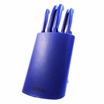 Slique 7pc Knife Set - Blue - 2