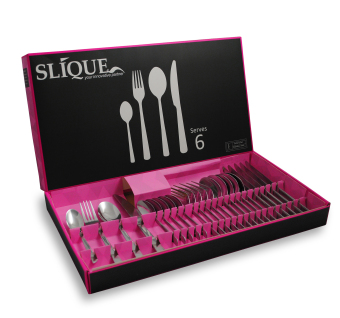 Slique SLQ-2450-24-PK 24pc Cutlery Set-Pink