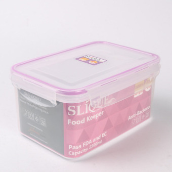 Slique SLQ-LK2017-PU Rectangular Food Container 2500ml-Purple