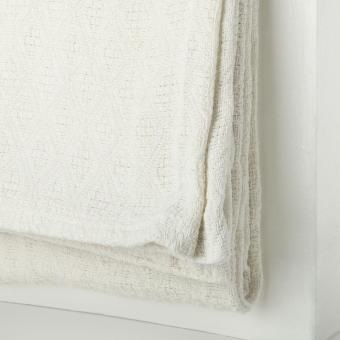 SM Home 100% Woven Cotton Blanket 80in. x 90in. (White) - 2