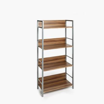 SM Home Aimee Cadence 4-tier Shelf Rack (French Walnut)