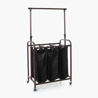 SM Home Mobile Garment Rack with Laundry Bag