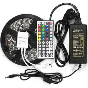 SMD 5050 RGB Waterproof 300 LED Strip Light with 44 Key Controller 12V