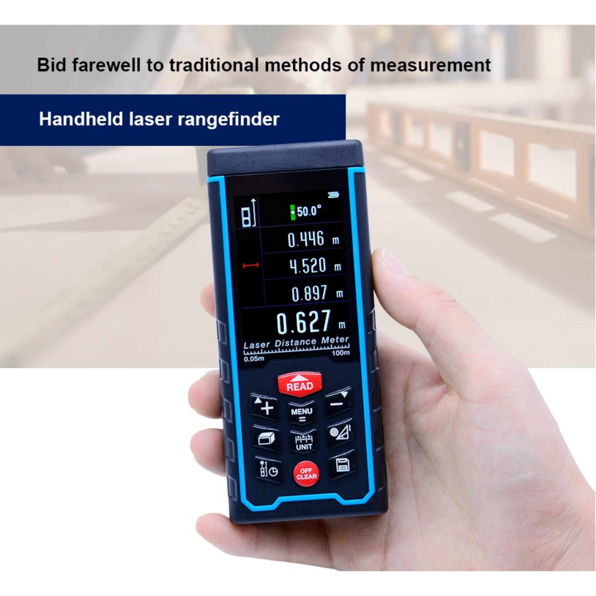 SNDWAY SW-S100 100m Meters Laser Distance Meter Color display high-