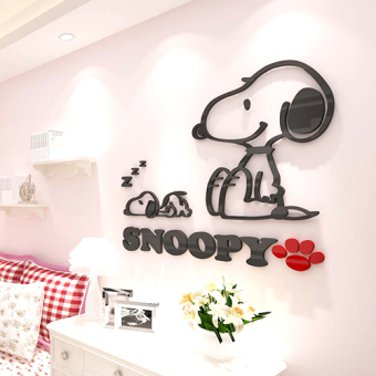 Snoopy children's room bedroom bedside adhesive paper