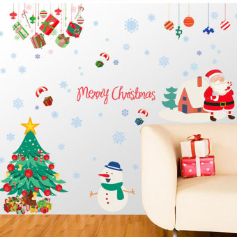 Snow New Year Christmas wall stickers
