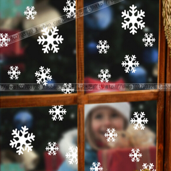 Snowflake Christmas New Year Christmas decoration window stickers wall adhesive paper
