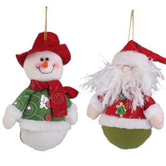 Snowman & Santa Claus Christmas Tree Decoration Christmas Hanging Ornament