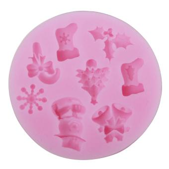 SOBUY Christmas Tree Snowflakes Shape DIY Cake Decorating Fondant Silicone Sugar Craft Molds,Random Color Price Philippines