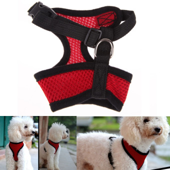 Soft Mesh Dog Harness Pet Puppy Cat Clothing Vest Red S