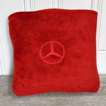 Soft Warm Reversible Queen Size Fleece Throw Blanket Bed Mat Plain Color Design With Pocket - 2