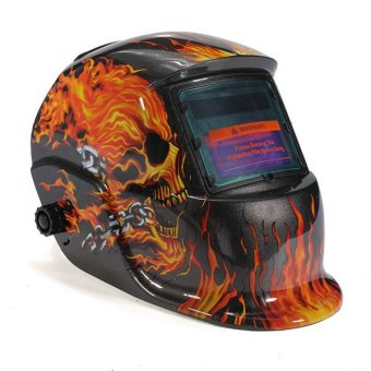 Solar Auto Darkening Welding Helmet Mask Tool UV/IR Protect Black/Yellow - intl