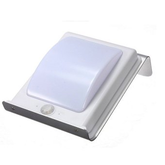 Solar LED Motion Sensor Waterproof Wall Light for Home GardenOutdoor (Silver)