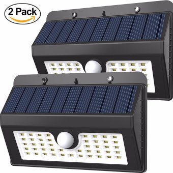 Solar lights Outdoor 45 LED Silvering Wireless Waterproof Security lights, Solar Motion sensor lights Wall Night lights for Home, Driveway, Patio, Deck, Yard, Garden, Wide angle Design(2-pack) - intl