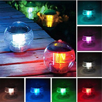 Solar Power LED Color Changing Globe Light Waterproof Floating Swimming Pool Party Decor