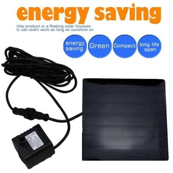 Solar Power Water Pump Panel Submersible Fountain Pond Kit GardenPool Watering - intl