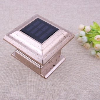 Solar Powered LED Garden Light Waterproof Outdoor Pillar Fence Lamp- intl - 4