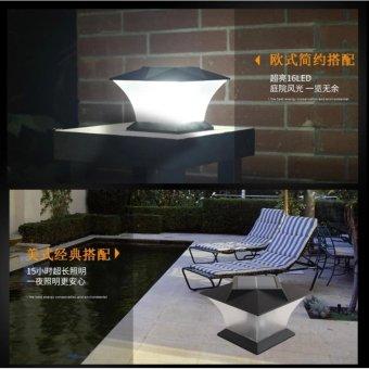 Solar powered pillar head outdoor waterproof pillar wall lampEuropean style villa LED wall lamp - intl - 4