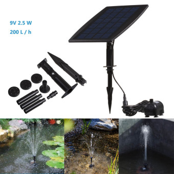 Solar Powered Professional Pump Fountain Pond Lights 9V 2.5WOutdoor Garden