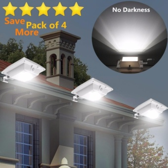 Solar Super Bright PIR Motion Sensor Waterproof Wireless Security Light Lamp For Outdoor Garden Wall Yard Deck Auto On / Off Dusk to Dawn Pack of 4 - intl