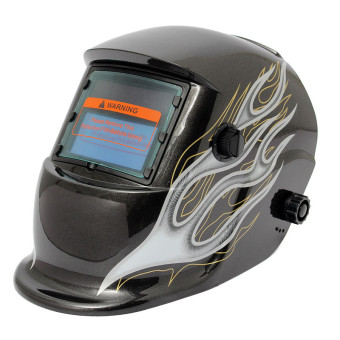 Solar Welder Mask Auto-Darkening Welding Helmet Racing Track Black Flame - intl Price Philippines