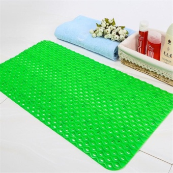 Solid Color Anti-Slip PVC Bath Mat With Suction Cups Bathroom FloorCarpet Rugs - intl