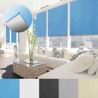 Solid Color Bead Curtains Home Roller Shade Window Blinds 80 x 175CM (Blue) - Intl