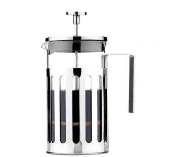 Somine Satinless Steel French Press Cafetiere Coffee Maker or TeaPress with Lid & Handle 5 Cup / 600ml - intl