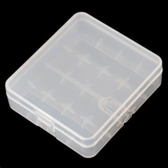 Soshine Portable Hard Plastic Case Holder Storage Box for 4 x 18650 Batteries - intl