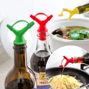 Soy Sauce pourer cork wine is wine mouth