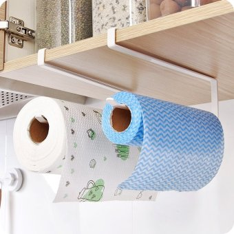Space saver Cabinet hanging shelf towel toilet paper holder organization Storage rack for bathroom Kitchen supplies - intl