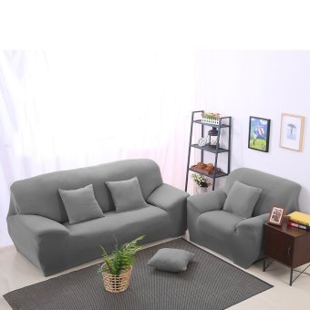 Spandex Stretch Lounge Sofa Couch Seat Cover Slipcover Case Home Decor Grey - 3