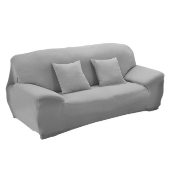 Spandex Stretch Lounge Sofa Couch Seat Cover Slipcover Case Home Decor Grey