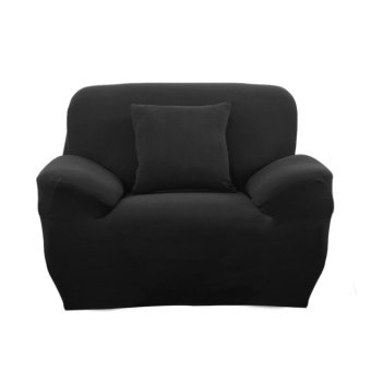 Spandex Stretch Single Sofa Couch Seat Cover Slipcover Case Black