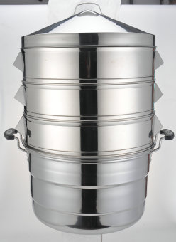 Special Thick non-magnetic stainless steel large steam grid steamer