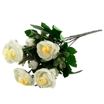 Spring Artificial Peony Flower (White)