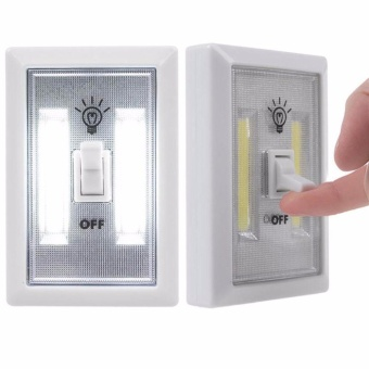 Square LED Wall Switch Wireless Closet Cordless Night Light BatteryOperated - intl Price Philippines